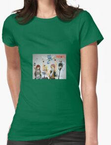 FAIRY TALE ANIME ART Womens Fitted T-Shirt