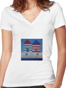 Two Shacks 11 Women's Fitted V-Neck T-Shirt