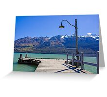 Glenorchy Pier Greeting Card