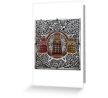Aztec Time Police Droid Pencils sketch Art Greeting Card
