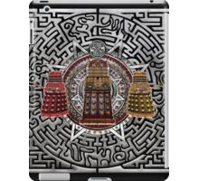 Aztec Time Police Droid Pencils sketch Art iPad Case/Skin