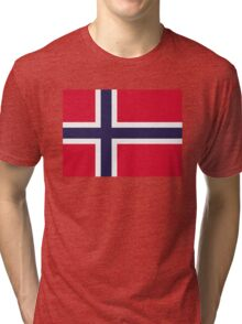 National Flag of Norway Tri-blend T-Shirt
