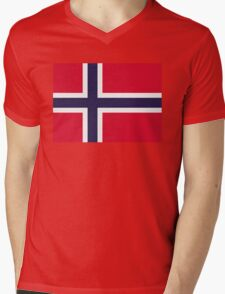 National Flag of Norway Mens V-Neck T-Shirt