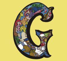 Doodle Letter G One Piece - Short Sleeve