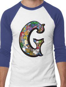 Doodle Letter G Men's Baseball ¾ T-Shirt