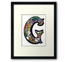 Doodle Letter G Framed Print