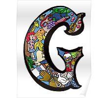 Doodle Letter G Poster