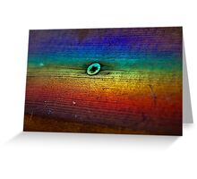 Rainbow Refraction on Wood Greeting Card