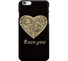 golden heart I love you iPhone Case/Skin