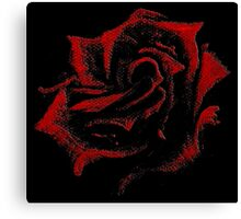 Hand-Painted Red Rose using Acrylic Paints Canvas Print
