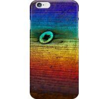 Rainbow Refraction on Wood iPhone Case/Skin