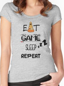 EAT, GAME, SLEEP, REPEAT Women's Fitted Scoop T-Shirt