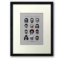 Famous Icons Framed Print