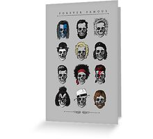 Famous Icons Greeting Card