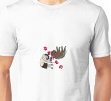 Stoner sloth in Japanese Unisex T-Shirt