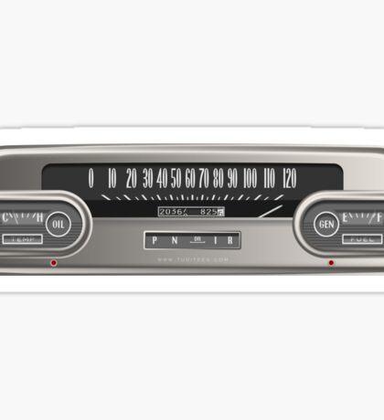 Cadillac Speedometer Sticker