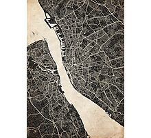 Liverpool map ink lines 2 Photographic Print