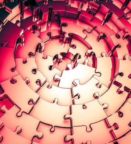 Metal Puzzle RETRO RED Sticker