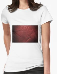 Red dark shining leather texture background  T-Shirt