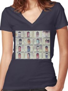 Film Collage #5 Women's Fitted V-Neck T-Shirt