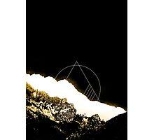 Golden Mountain  Photographic Print