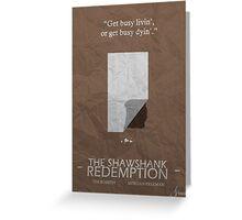 Shawshank Redemption Minimalism Greeting Card