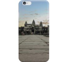 Angkor Wat entrance at dawn iPhone Case/Skin