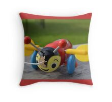 The Buzzy Bee Toy Throw Pillow