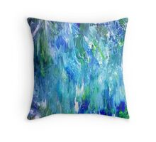 'Seattle Seahawks' Inspired 'Rain Painting' Raw Throw Pillow
