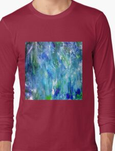 'Seattle Seahawks' Inspired 'Rain Painting' Raw Long Sleeve T-Shirt