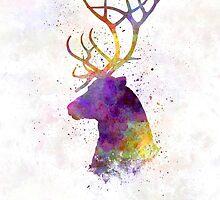 Reindeer 01 in watercolor by paulrommer