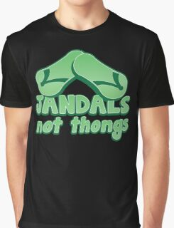JANDALS not thongs with funny New Zealand  Graphic T-Shirt