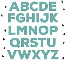 Alphabet (green) by elioandthefox