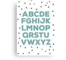 Alphabet (green) Canvas Print