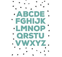 Alphabet (green) Photographic Print