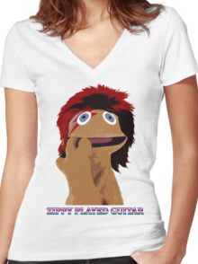 Zippy Played Guitar Women's Fitted V-Neck T-Shirt
