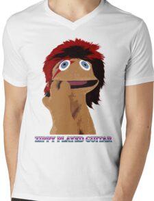 Zippy Played Guitar Mens V-Neck T-Shirt