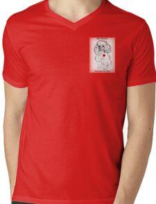 Valentine Poodle-My Heart Belongs to You! Mens V-Neck T-Shirt