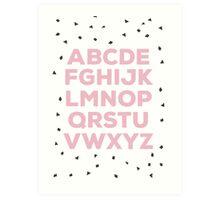 Alphabet (pink) Art Print