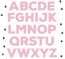 Alphabet (pink) by elioandthefox
