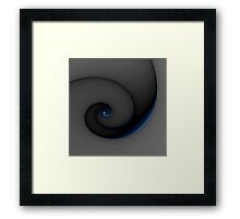 Touched with Blue Framed Print