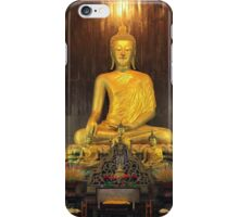 Buddha Statue at Wat Pan Tao Temple iPhone Case/Skin