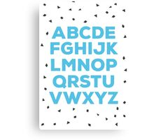 Alphabet (blue) Canvas Print