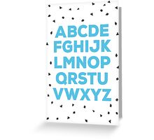 Alphabet (blue) Greeting Card