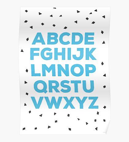 Alphabet (blue) Poster