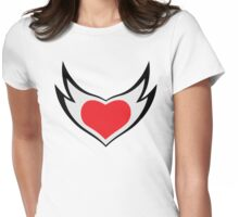 Hardstyle Heart Womens Fitted T-Shirt