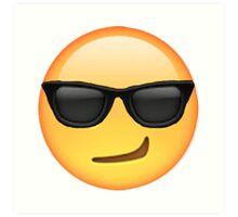 Cool Smirking Emoji Art Print