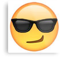 Cool Smirking Emoji Metal Print