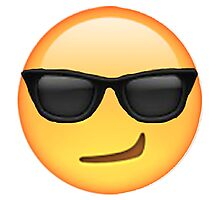 Cool Smirking Emoji Photographic Print