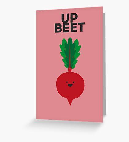 Up Beet Greeting Card